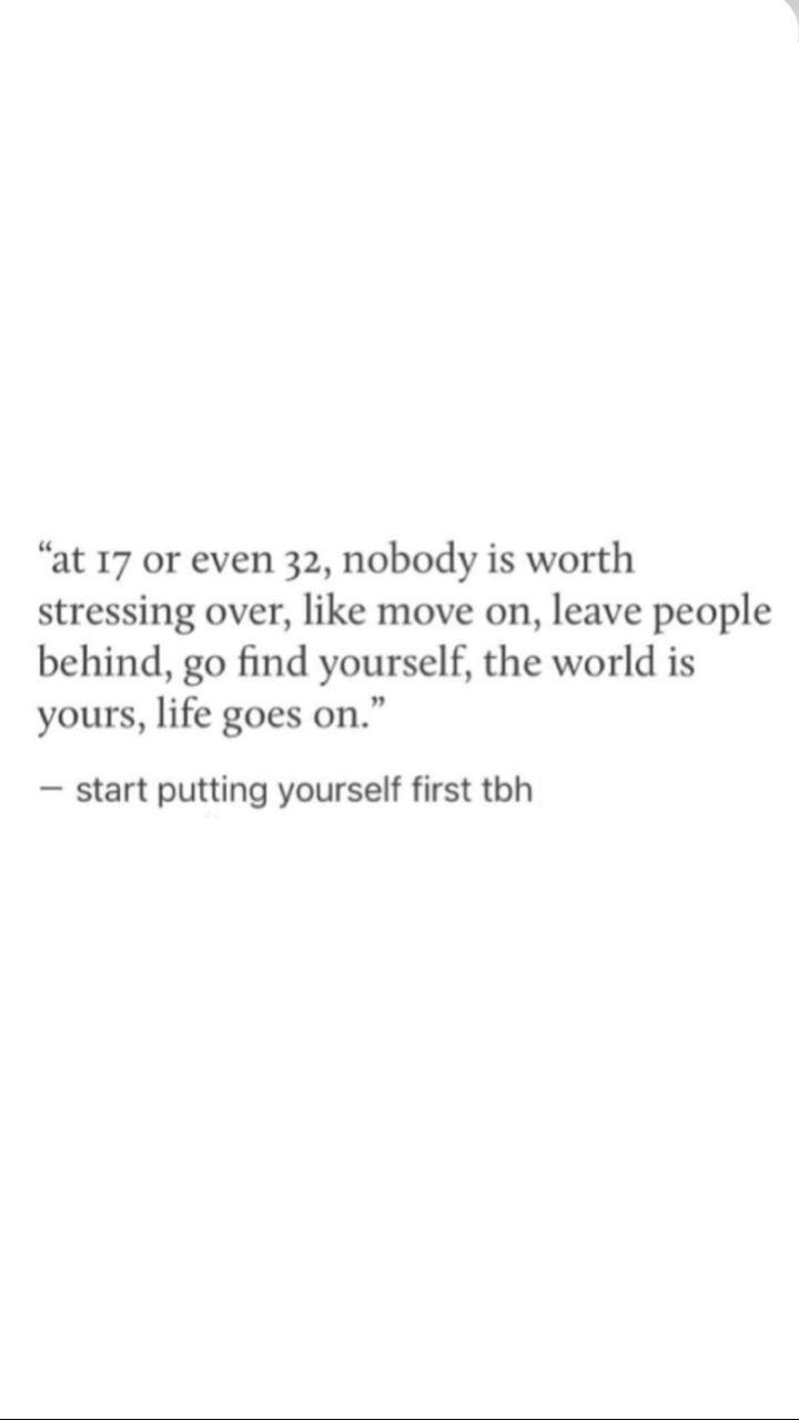 Start putting urself first