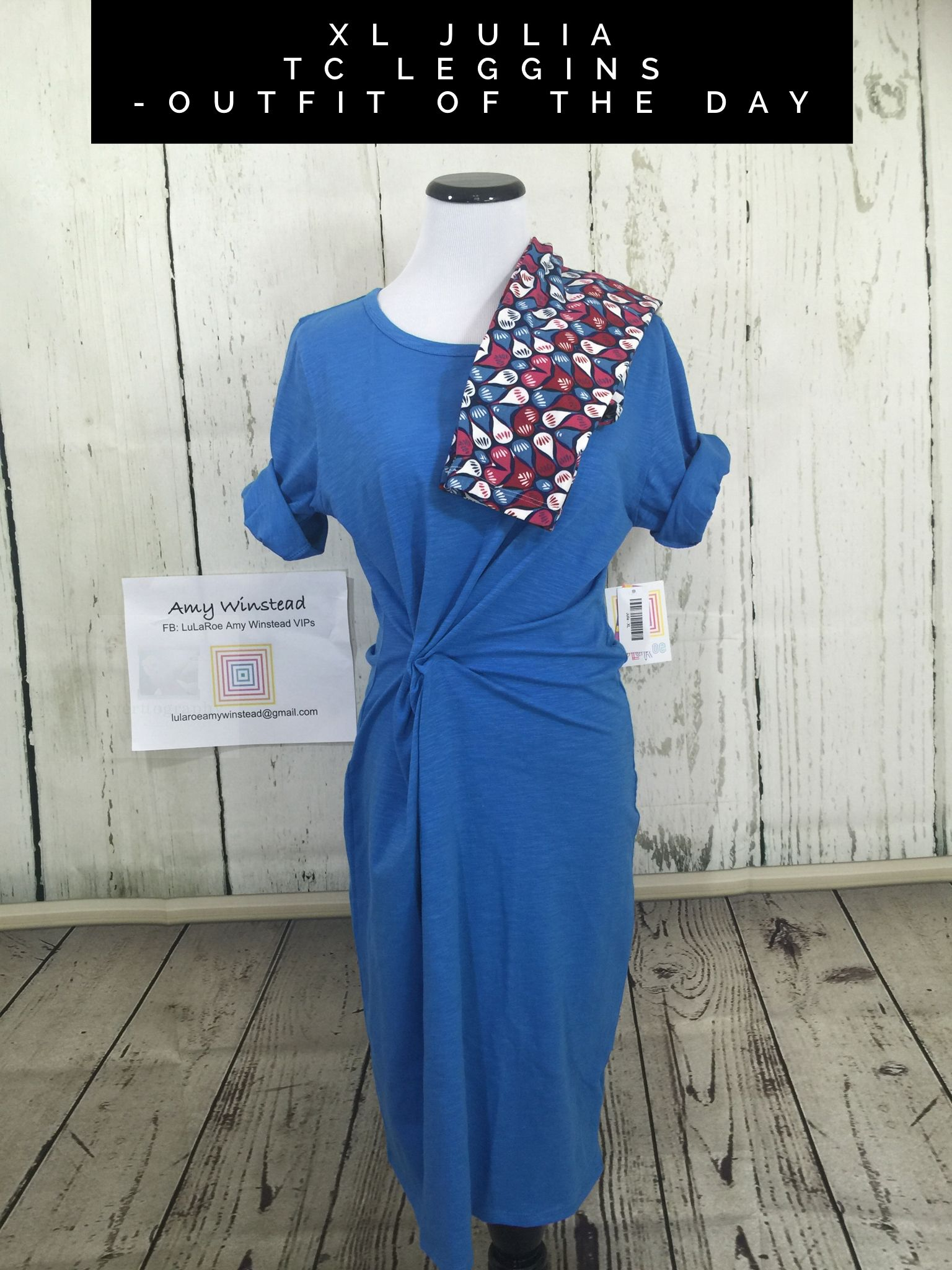 https://www.facebook.com/groups/LuLaRoeAmyWinsteadVIPs/  Julia and Leggings, perfect for cooler evenings.