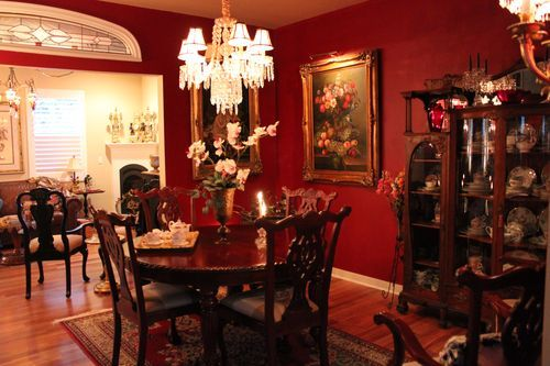 dark red dining roomhaynetcreativecom - Dining Room Red Paint Ideas