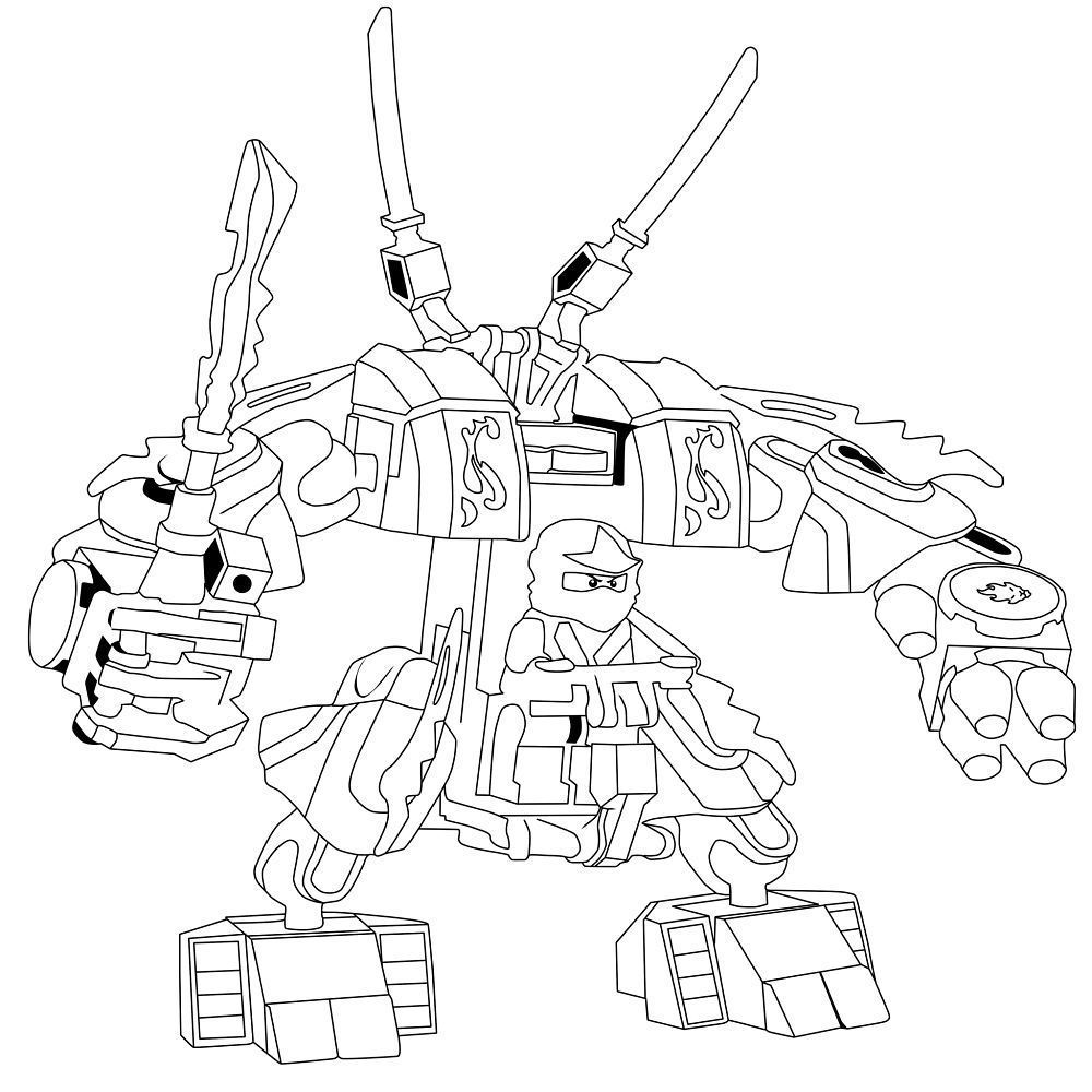 28 Collection Of Ninjago Mech Coloring Pages High Quality Free Ninjago Coloring Pages Coloring Pages Printable Coloring Pages