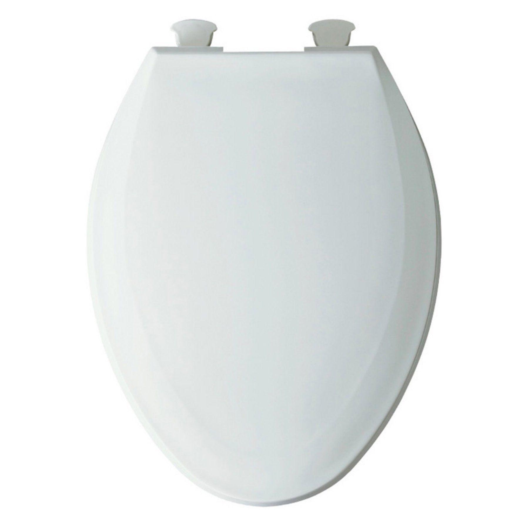 Bemis 1100ec Elongated White Plastic Toilet Seat Toilet Seat