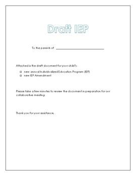draft of a cover letters
