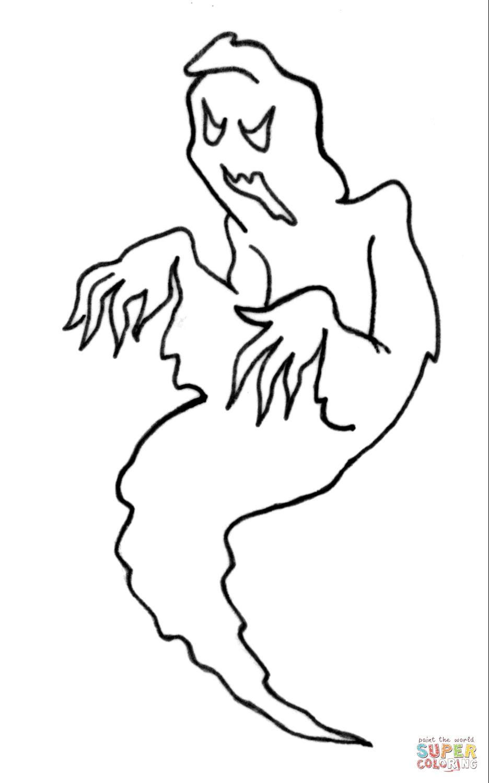 Dibujo de Un fantasma para colorear | Dibujos para colorear ...