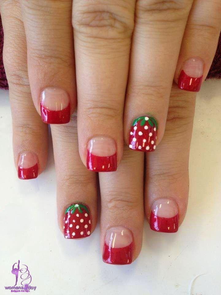 strawberry nail art design / girls fashion trend winter ...