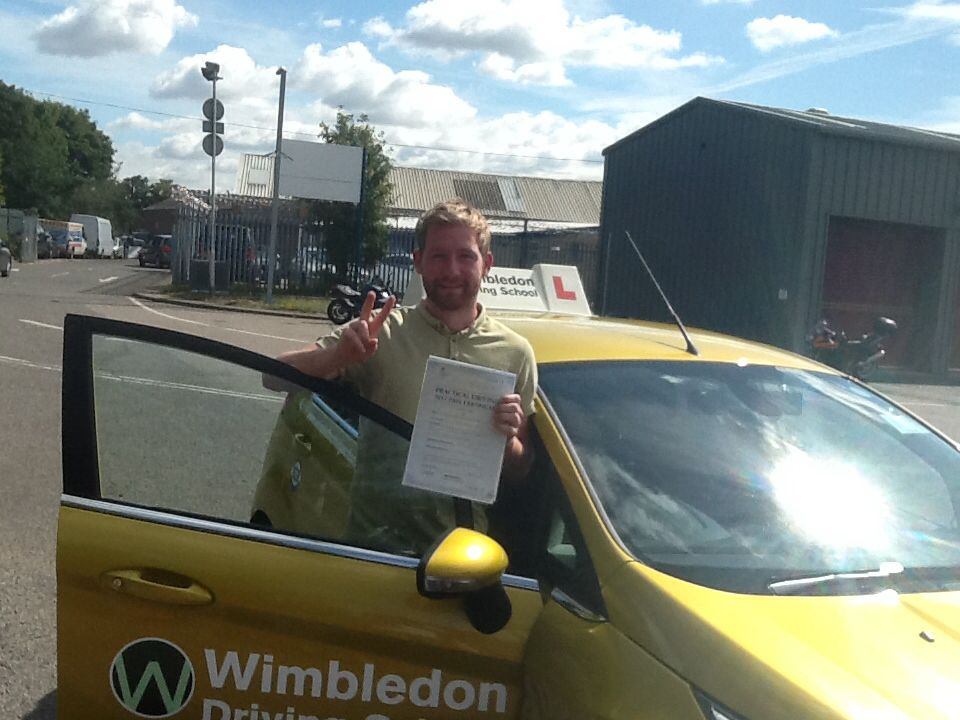 James Pass his driving test at mitcham on 13/08/2013,  Wish him safe driving for life