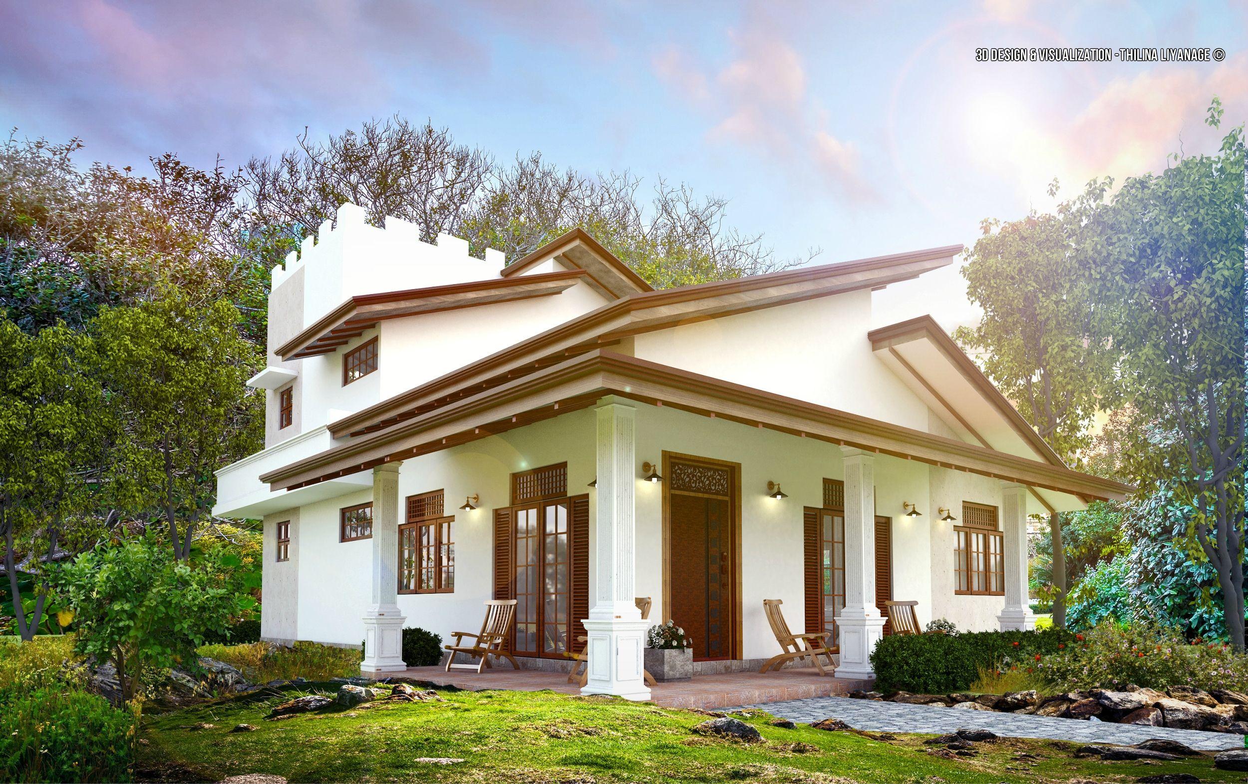 Exterior: Face Lift For Old House,site At Kalutara,Sri Lanka 3d