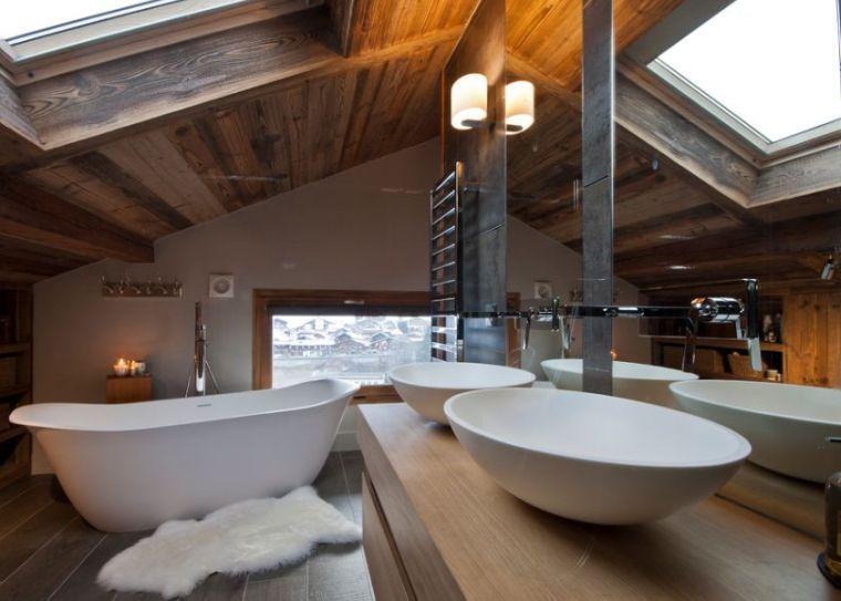 Salle de bain chalet de montagne : déco luxueuse et raffinée   Salle ...