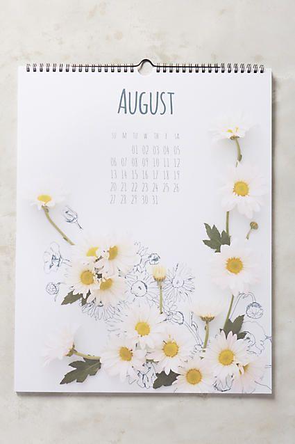 Captured Flora 2017 Calendar - anthropologie.com