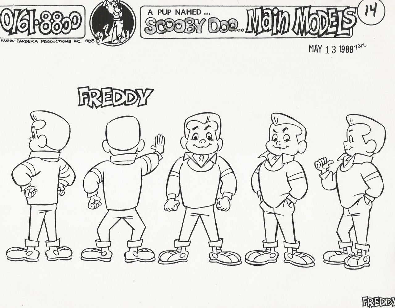 Model Sheet Monday A Pup Named ScoobyDoo ScoobyDoo