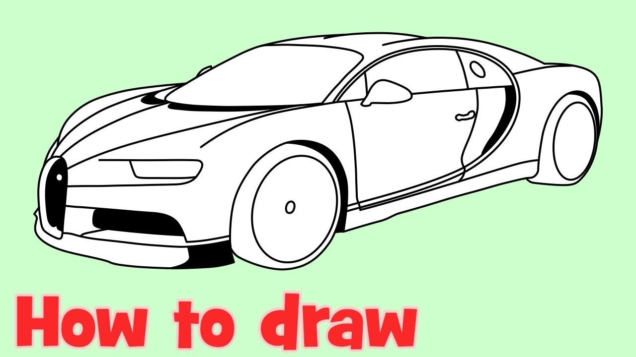 How To Draw A Car Bugatti Chiron Youtube In 2020 Bugatti Chiron Bugatti Chiron Interior Bugatti
