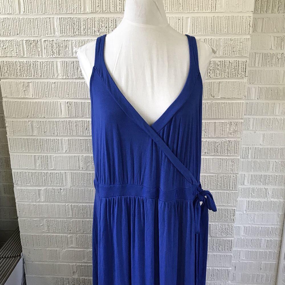 Old navy maxi dress womenus plus size x xl jersey knit sleeveless