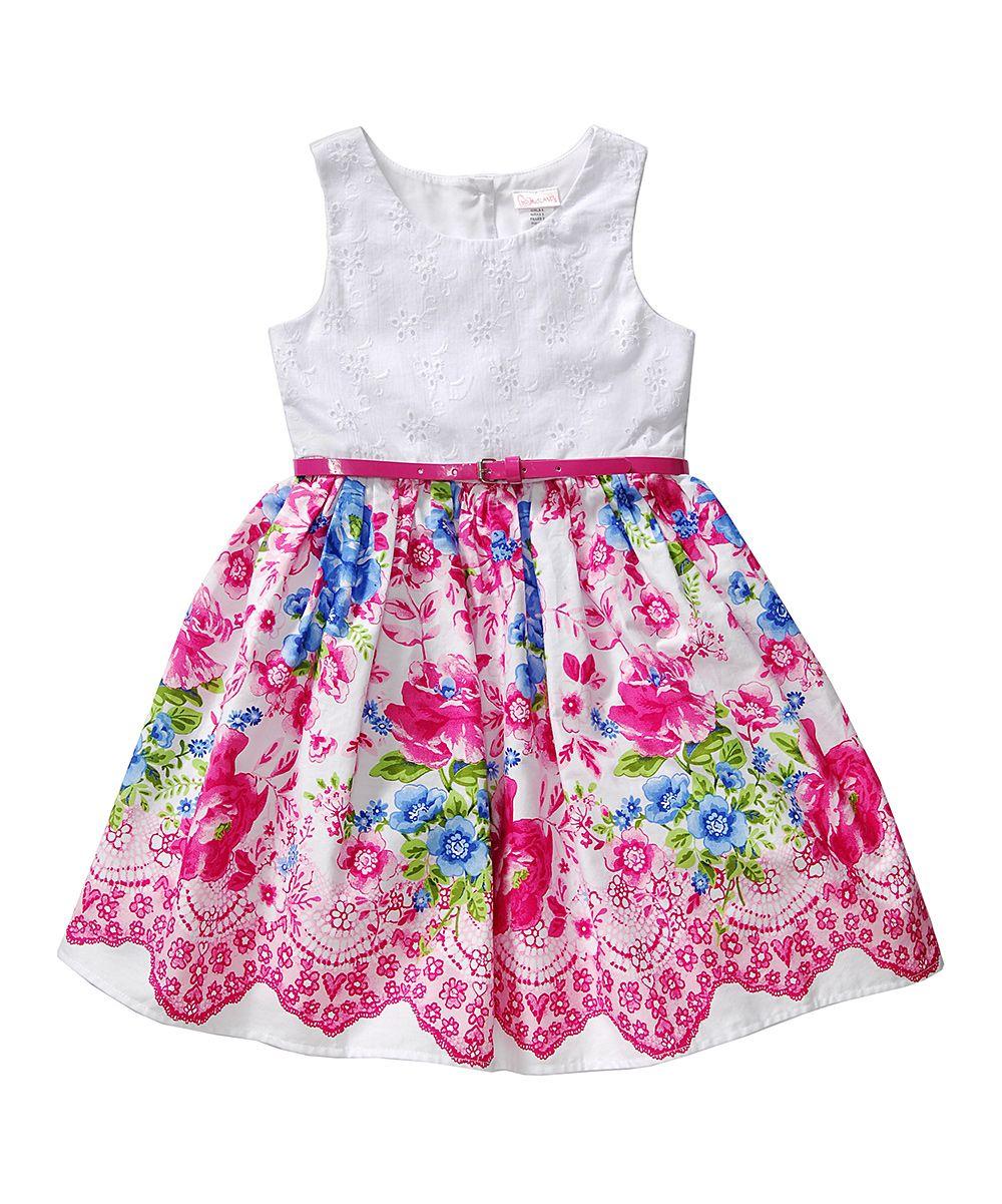 Pink & White Floral Dress - Toddler & Girls