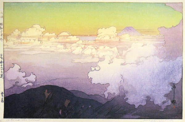 hanga gallery . . . torii gallery: Above the Clouds by Hiroshi Yoshida