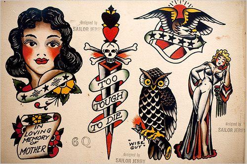 Sailor Jerry Tattoo Art San Antonio Rose Photo Print