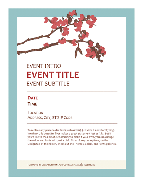 Springtime Event Flyer Yw Pinterest Event Flyers And Family Trees