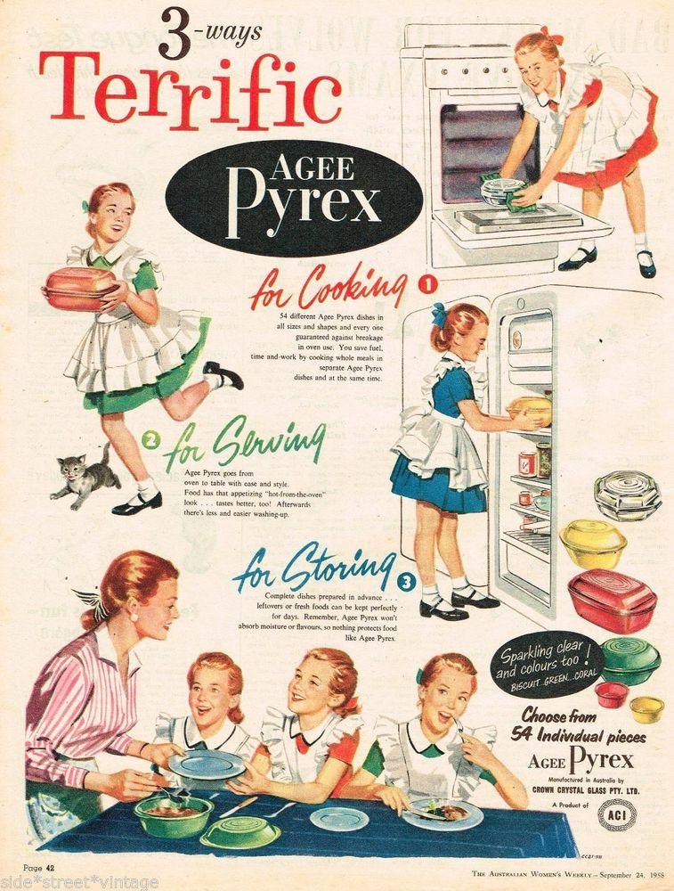 Agee Pyrex Ad Retro Kitchenalia Pyrex Vintage Advertising 1958