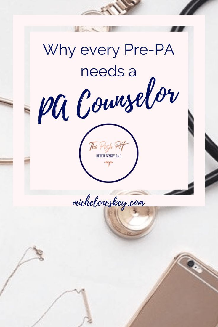 Why every PrePA needs a PA Counselor Michele Neskey