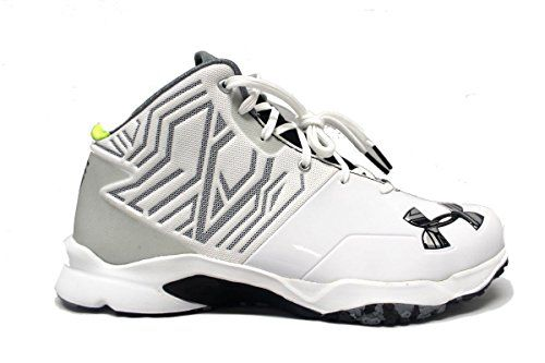 060296643399 Under Armour Team Banshee Mid Turf Men's Football Cleats (10, White/Black)