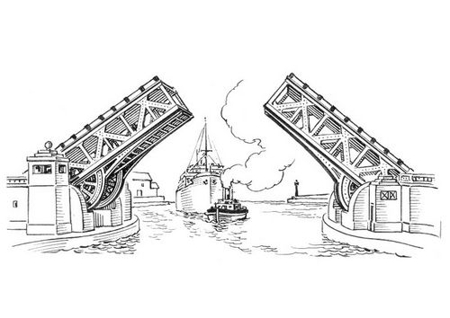 Coloring Page Bridge Coloring Pages Color Pictures Of Bridges