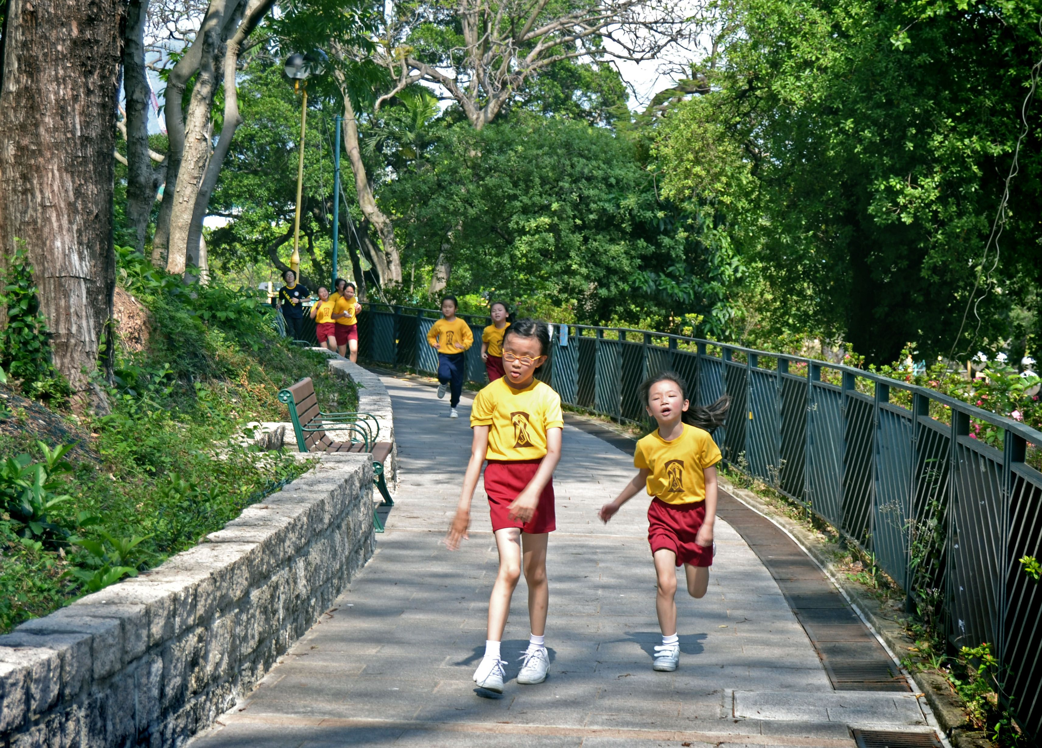 Hong Kong Kowloon Side - Gym class in Mongkok School - Credits: Alexandra van der Essen
