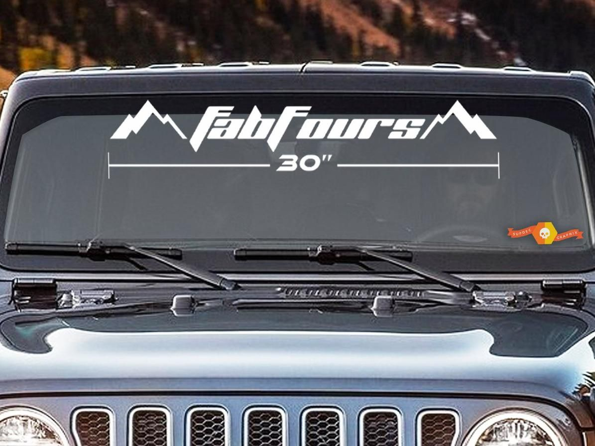 Fab Fours Windshield Decal Vinyl Lettering Select Size Truck 4x4 Jeep Toyota Windshield Jeep 4x4 Jeep [ 896 x 1195 Pixel ]