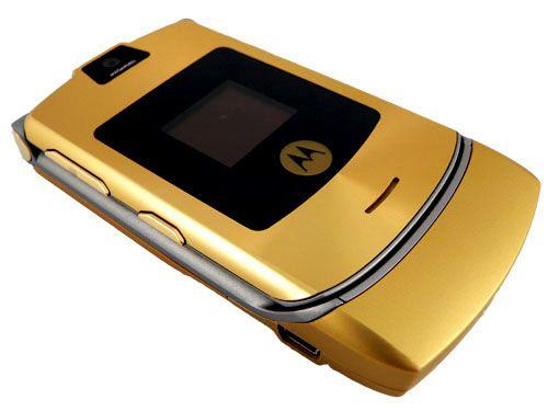 Motorola Razr V3 D Gold Flip Cell Phones Motorola Razr Motorola