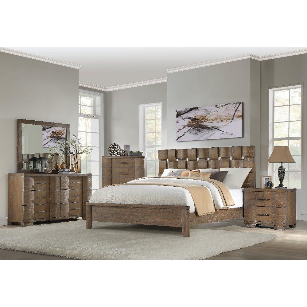 Rustic Modern Driftwood 4 Piece King Bedroom Set Fairfax Bedroom Furniture Sets King Bedroom Sets Bedroom Set