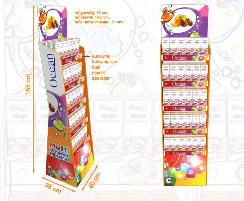 display stand karton