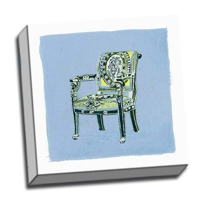 Picture it on Canvas 'Urn Chair II' Graphic Art Wrapped Canvas