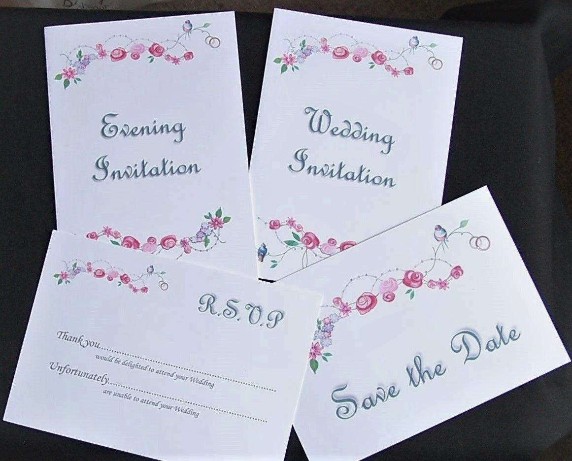 Cheap White Card Cheap Diy Non Personalised Wedding Invitation Sets Printed
