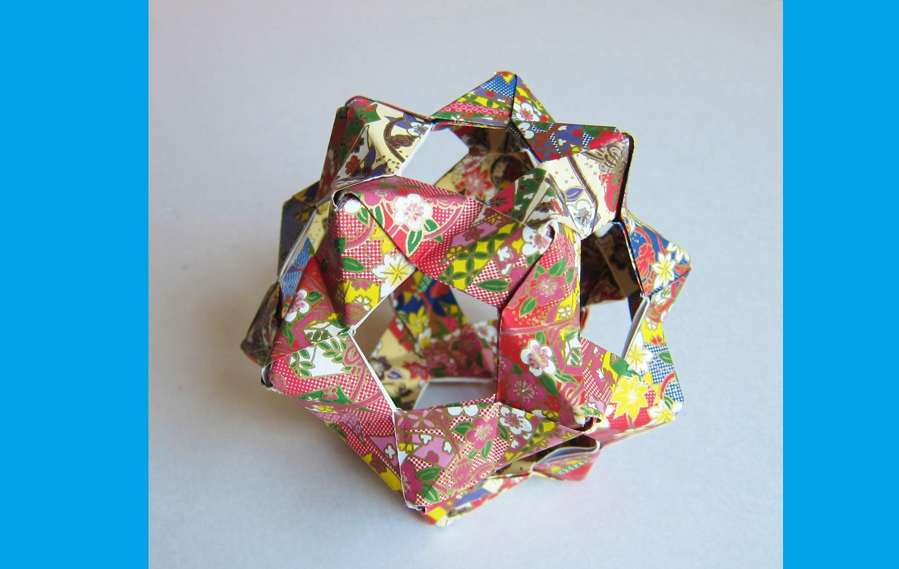 Origami Bucky Ball Dodecahedron 30 Phizz Units Origami Flower