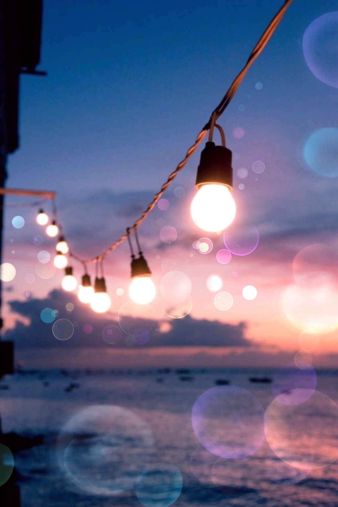 Bokeh Lights Evening Dusk Summer Wallpaper
