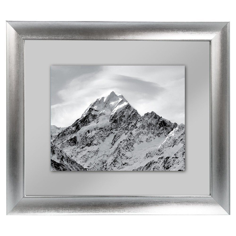 8 X 10 Float Silver Frame Threshold With Images Silver Frame Frame Wood Photo Frame
