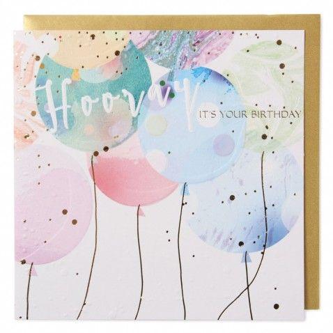 Hooray Balloons Birthday Card By Paperchase Birthday Pinterest