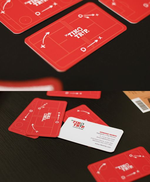 Bright red color with rounded edges make the card very presentable and unique by Baboon Creation