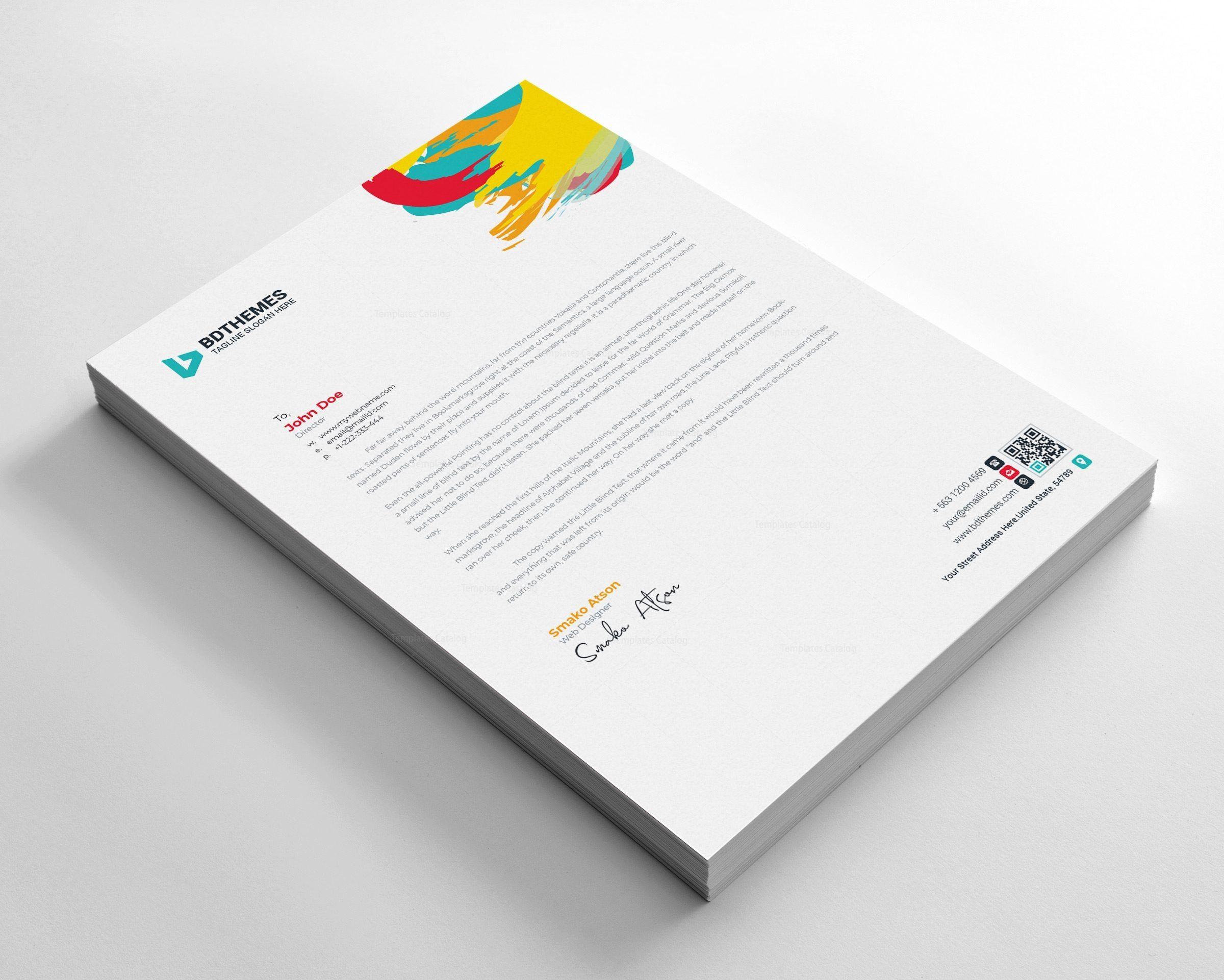 Retail Letterhead Design Template Graphic Templates Letterhead Design Letterhead Template Letterhead