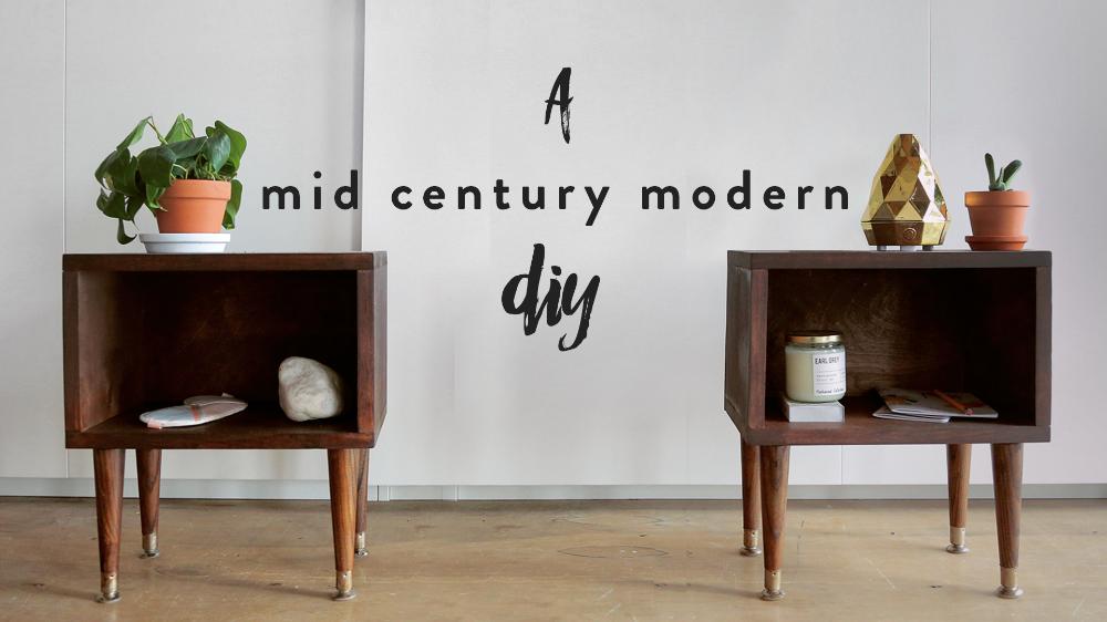 Diy Mid Century Modern Nightstand Die Traurigen Madchen Die