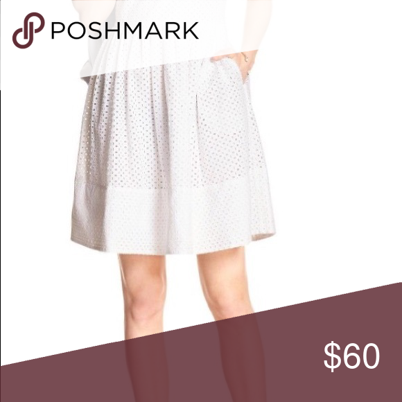 175a5c35a0e Eyelet Fit and Flare PERFECT For All Occasions Banana Republic white eyelet  fit and flare dress