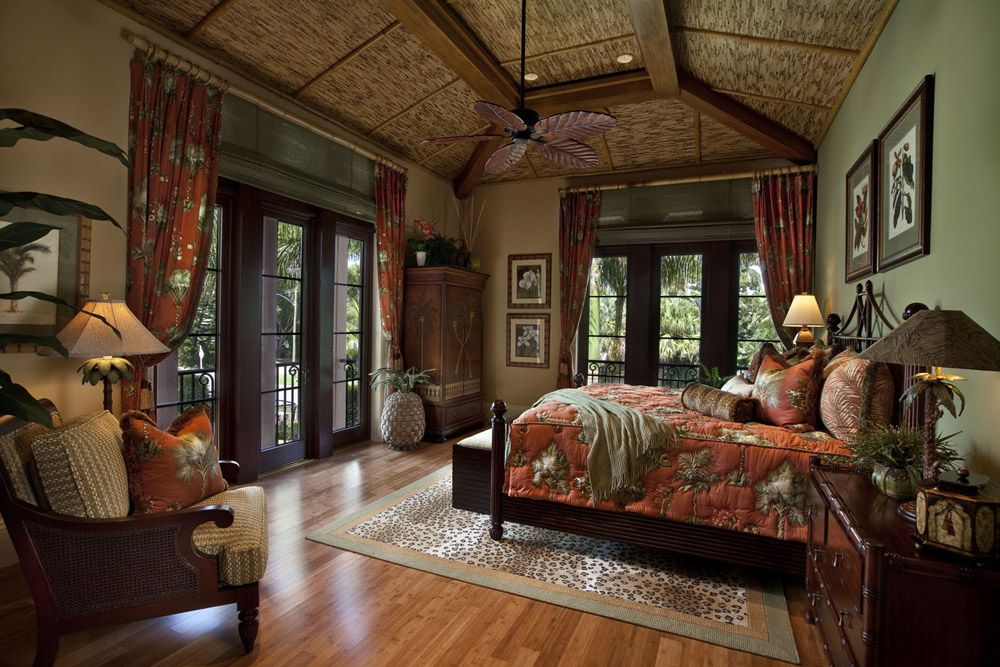 Caribbean Interior Design Tropical Bedrooms