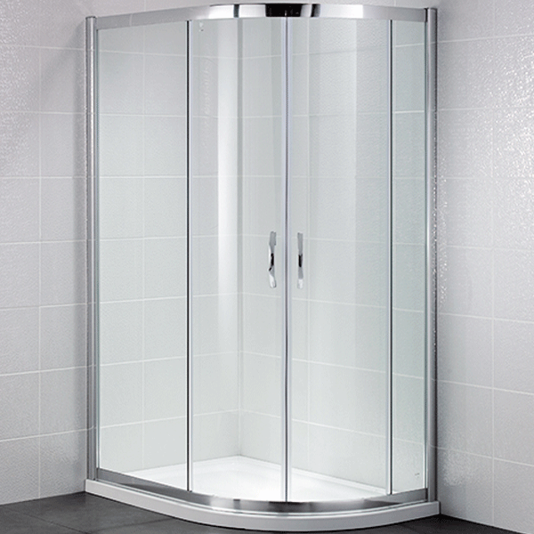 April Identiti2 Offset Quad Shower Enclosure 1200 X 900 Double Sliding Silver Clear In 2020 Quadrant Shower Quadrant Shower Enclosures Shower Enclosure