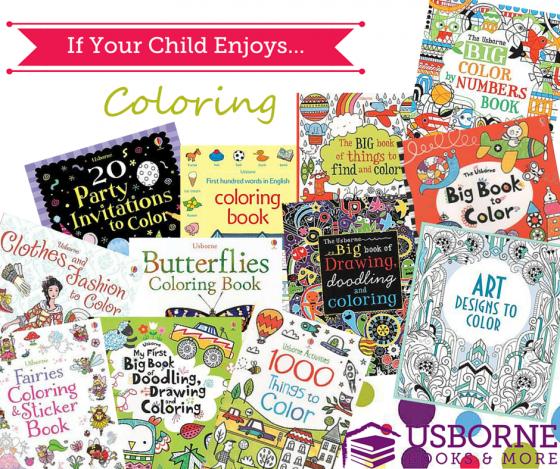 best of usborne coloring books - Usborne Coloring Books