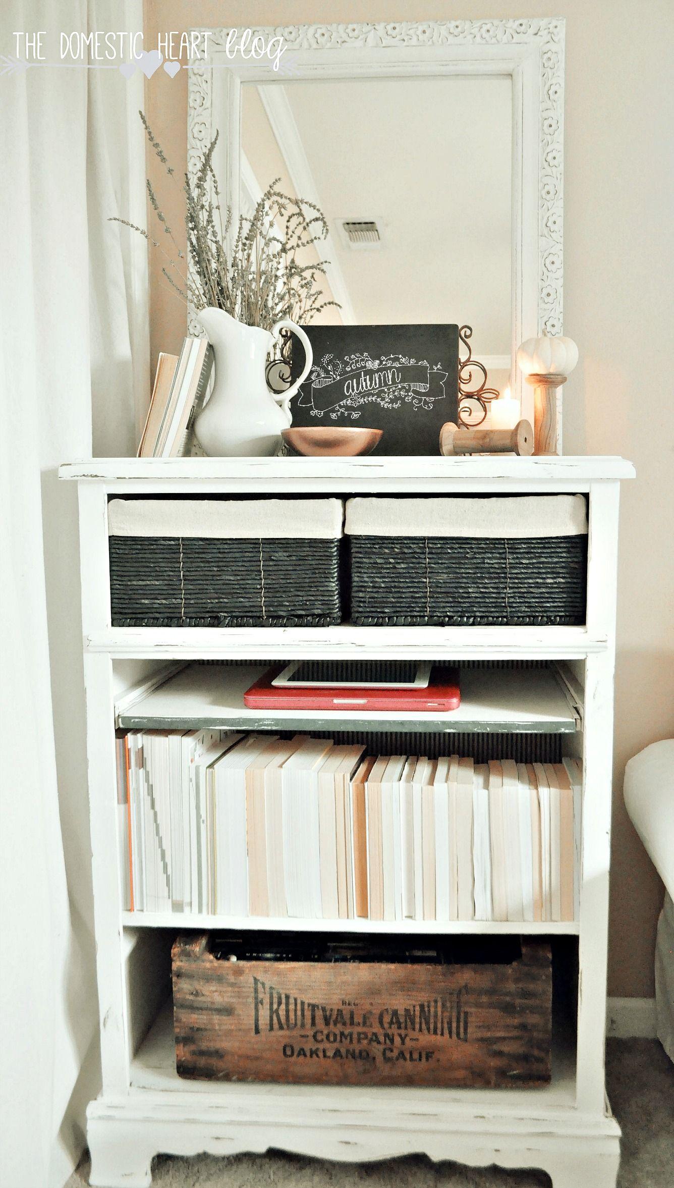 10 Junky Dresser To Grain Sack Secretary A Budget Makeover Bookshelves Diy Old Bookshelves Repurposed Furniture