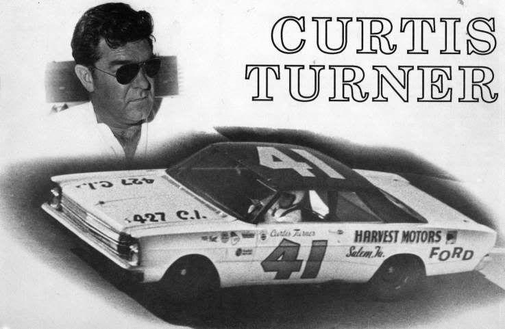 1966 Curtis Turner in Wood Bros Ford.