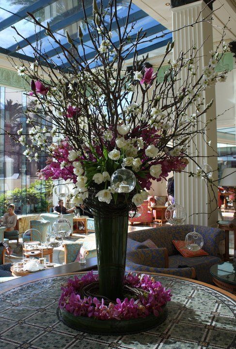 Hotel Foyer Modern : Versace hotel foyer flower arrangement flowers