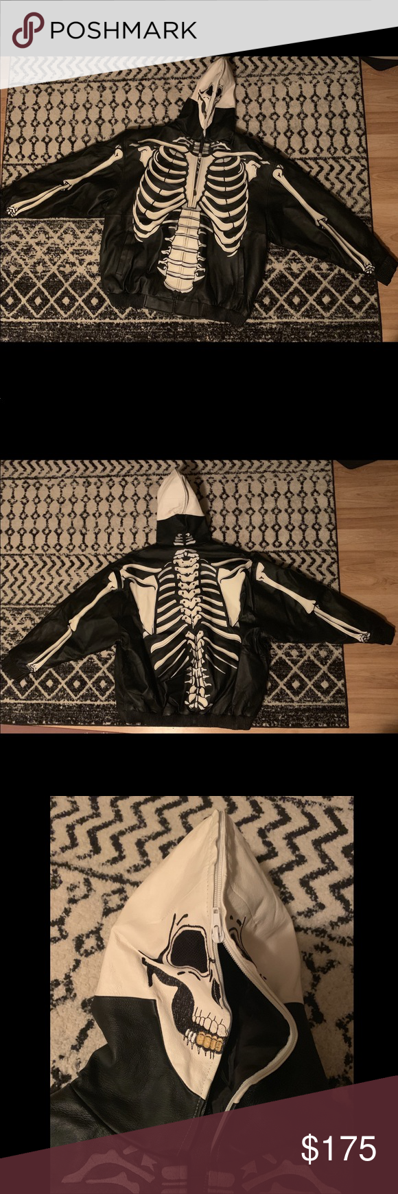 Vilanto Leather Jacket Skull Skeleton Leather Jacket Leather Skeleton Body [ 1740 x 580 Pixel ]