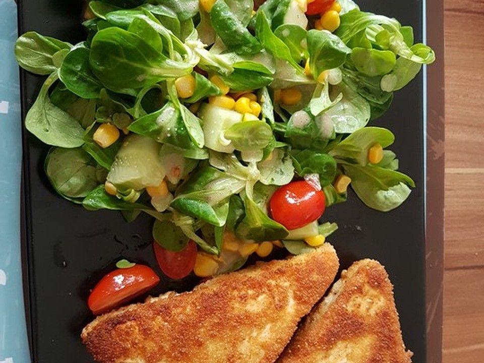 Gebackener Feta auf gemischtem Salat mit Honigdressing von DaisyDancer | Chefkoch