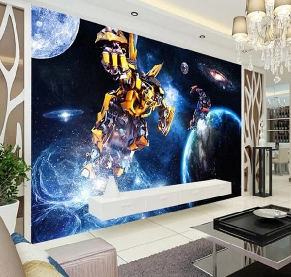 Mural Wallpaper Transformers for Children room (With