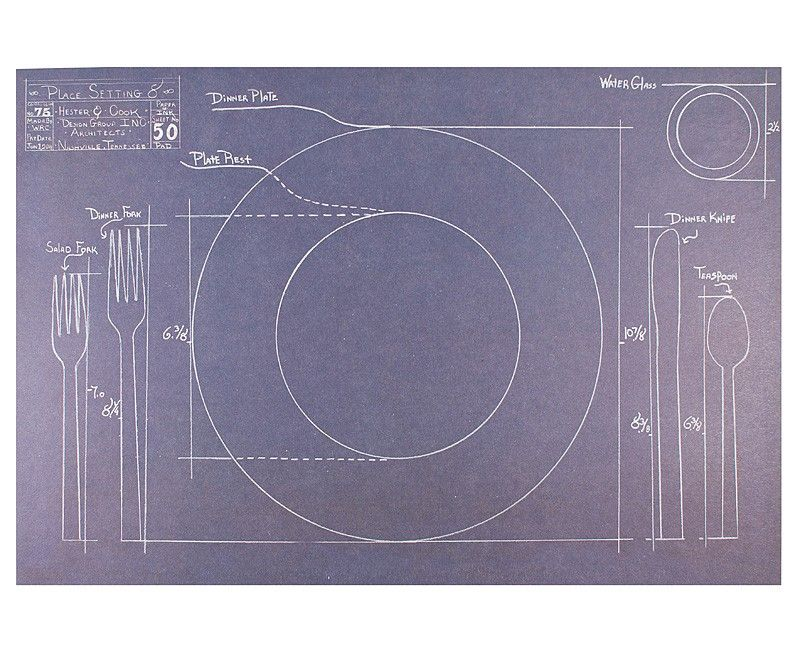 Blueprint Placemat Paper Tear-Off Pad - fresh blueprint party band