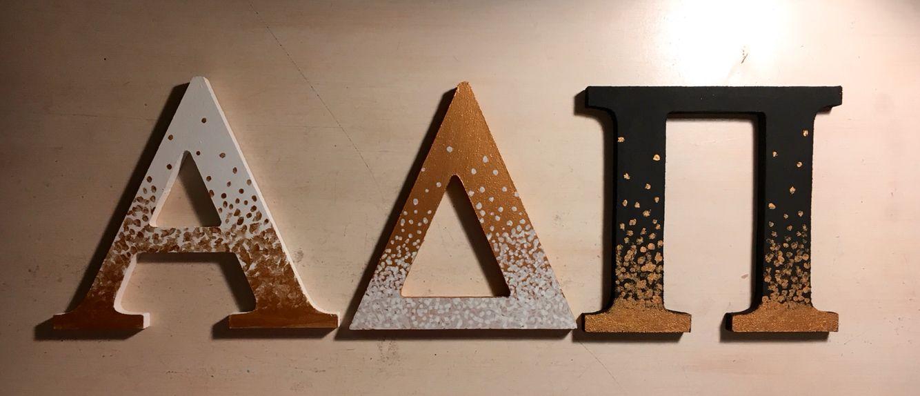 Sorority ombré dot letters