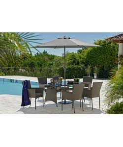 Hand Woven Havana 6 Seater Patio Set   Express Delivery.